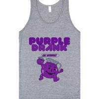 Purple Drank-Unisex Athletic Grey Tank