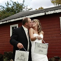 He Asked She Said YES Canvas Wedding Signs
