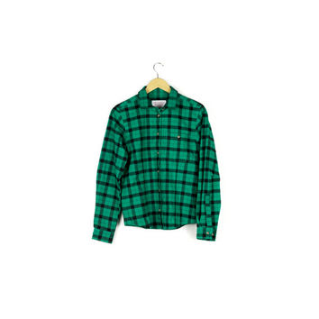 NEW Filson Green Flannel Shirt / Alaskan Guide / NWT / classic lumberjack flannel / green & black buffalo plaid / grunge / mens small