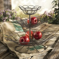 Home Essentials & Beyond 65636 French Wire 3 Tier Fruit Stand