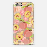 Peaches - Transparent/Clear Background iPhone 6 case by Lisa Argyropoulos | Casetify