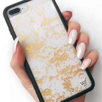 Wildflower Gold Dust iPhone Case