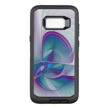 Colorful Modern Pink Blue Turquoise Fractal Art OtterBox Defender Samsung Galaxy S8+ Case