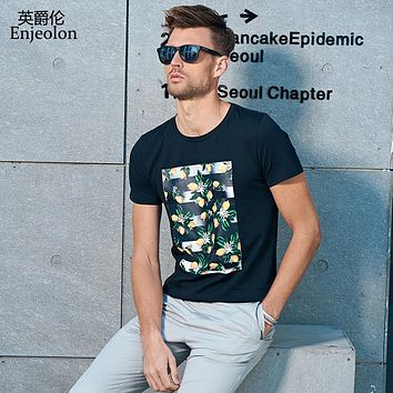 men 3 color printing clothing t shirts male o neck short sleeve clothes casual clothing