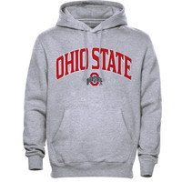 Ohio State Buckeyes School Arch Pullover Hoodie - Ash