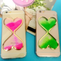 Fashion beautiful heart-shaped sand Case Cover for Apple iPhone 5s 5 SE 6 6S 6 Plus 6S Plus 16090704003