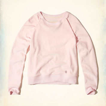 Girls Velour Crew Sweatshirt | Girls Tops | HollisterCo.com