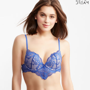LLD Solid Lace Hanky Push-Up Bra - Aeropostale
