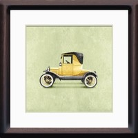 Classic Vintage Yellow Car 8x8 Room Wall Art Print by Caramel Expressions