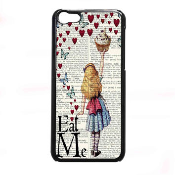 Alice in Wonderland Madhatter Chershire Cat FOR IPHONE 5C CASE *NP*