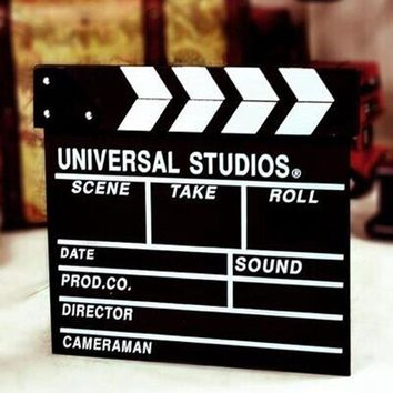 Hoomall Clapperboard Photobooth Props Director Movie Clapper Shoot Video Cut Prop Diy Baby Shower New Year Wedding Decoration