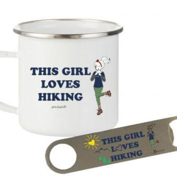 philoSophie's This Girl Loves Hiking Camp Cup & Bottle Opener Gift Set