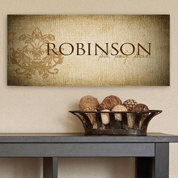 Personalized Faith & Family Canvas Sign Free Engraving