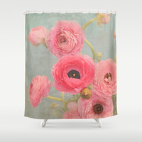 Vintage Romance Shower Curtain by Lisa Argyropoulos
