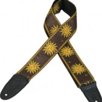 "Levy's 2"" Sun Black Guitar Strap"