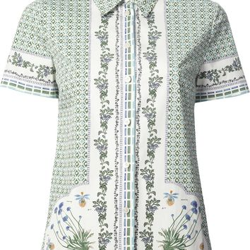 Tory Burch Geometric And Floral Print Shirt