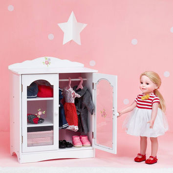 "Olivia's Little World - Little Princess 18"" Doll Fancy Closet with 3 Hangers"
