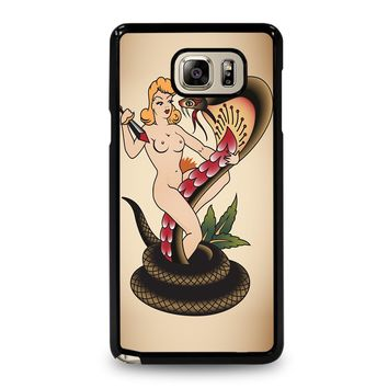 SNAKE CHAMER SAILOR JERRY TATTOO Samsung Galaxy Note 5 Case