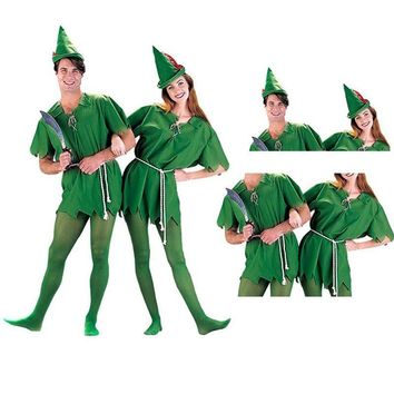 Adult Peter Pan Costume Child Kids Cartoon Movie Cosplay Costume Sexy Women Girls Boys Peter Pan Costume XC-7049