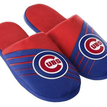 Chicago Cubs Big Logo Slide Slippers New Style MLB