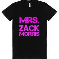 Mrs. Zack Morris-Female Black T-Shirt