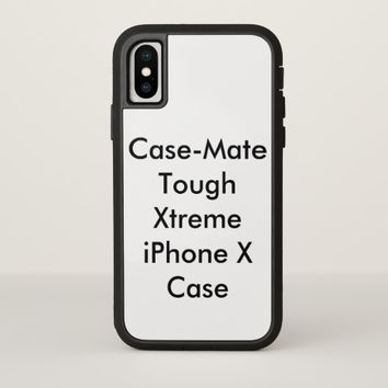 Customized Case-Mate Tough Xtreme iPhone X Case