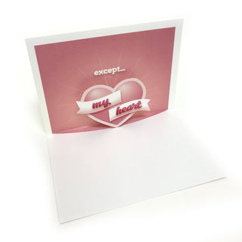 Valentines Day Card / Give You My Heart / Cute Romantic Card / Love Popup Card / Anniversary Popup Card / Proposal Card / Popup Card