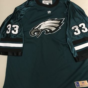 PHILADELPHIA EAGLES GREEN #33 YOUTH SHORT SLEEVE JERSEY SHIRT SHIPPING