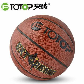 PTOTOP PU Leather Material Official Size 7 Basketball Ball Non-slip Wear-resistant Indoor Outdoor Training Practice Ball