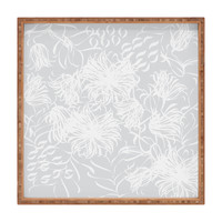Vy La Calm Breezy Grey Square Tray