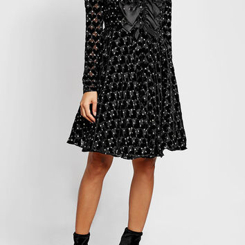 Printed Dress with Velvet and Silk - Giambattista Valli | WOMEN | US STYLEBOP.COM