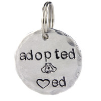 Adopted and Loved Dog Tag