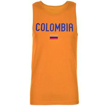Licensed Sports Colombia Country Flag Tank Top - Yellow KO_20_2