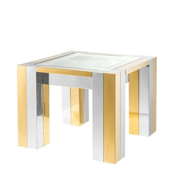 Gold Square Side Table | Eichholtz Titan