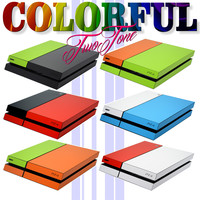 PS4 Playstation 4 COLORFUL MATT Two Tone Wrap Sticker Decal Skin