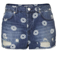 MOTO Daisy Ripped Hotpants - New In This Week - New In - Topshop
