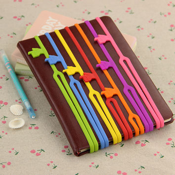 1pcs lot Office Supply Funny Silicone Finger Pointing Bookmark Students Learn Essential Supplies