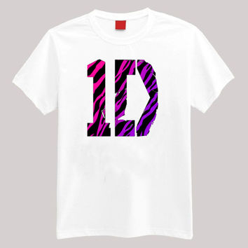 One Direction 1 D Zebra Stripe T Shirt