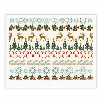 "Famenxt ""Christmas Vibes"" Holiday Pattern Fine Art Gallery Print"