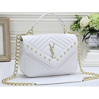 YSL Fashion Hot Selling Ladies Pure Color Shopping Bags