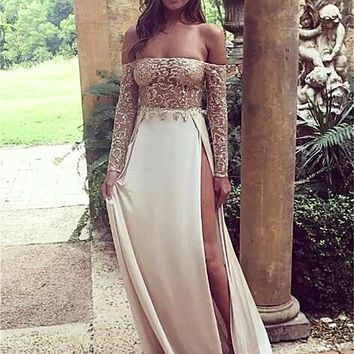 Princesa Off-the-shoulder Maxi Gown
