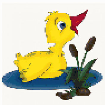 Cross stitch pattern Duck-PDF-Instant Download-Counted cross stitch-Disney-Patterns-needlepoint-Animal pattern-Baby-Kids-Bird-Birds-Duck