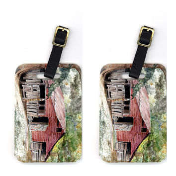Pair of Old Barn Luggage Tags