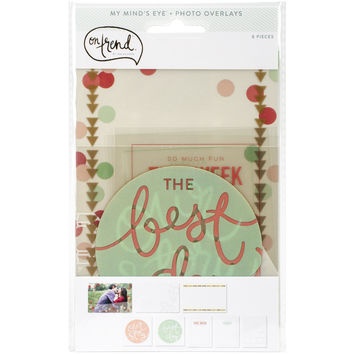 On Trend Photo Overlays 8/Pkg-Happy