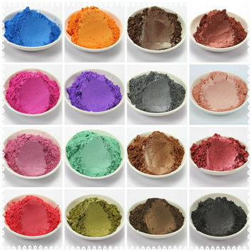 20g  Healthy Natural Mineral Mica Powder DIY For Soap Dye Soap Colorant  makeup Eyeshadow Soap Powder  Free Shipping