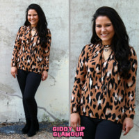 Put Me On The Spot Leopard Blouse