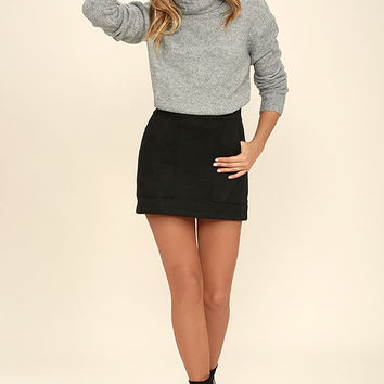 Favorite Dream Heather Grey Turtleneck Sweater