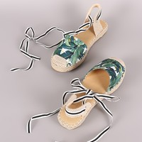 Tropical Vacation Slingback Espadrille Flats