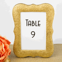 Gold Bling Glitter Picture or Table Number Frame