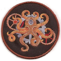 Steampunk Octopus Patch